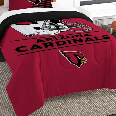 2pc Nfl Twin Comforter And Pillow Sham, Arizona Cardinals Queen Size Bedding