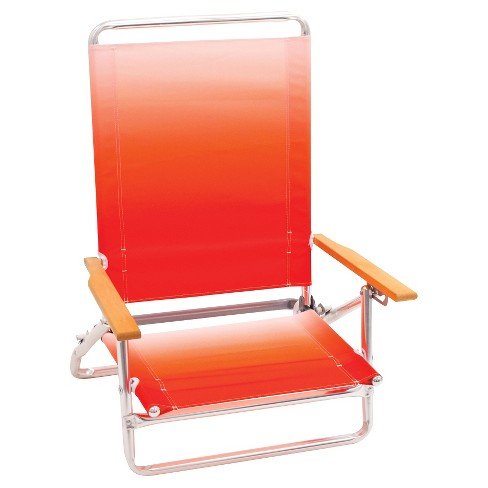 3 Position Low Beach Chair Low - Coral - Room Essentials™ - image 1 of 1