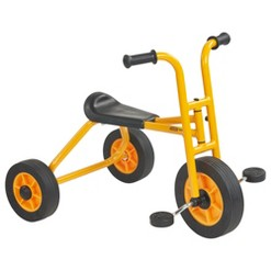 RABO/ECR4Kids Yellow School Trike, Toddler Tricycle for Backyard and Playground