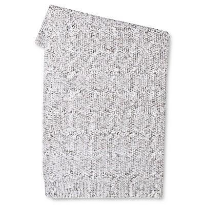 Marled Sweater Knit Throw Blanket - Gray - Threshold™