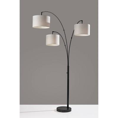 3 Arm Bowery Arc Lamp Black - Adesso