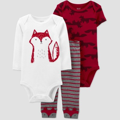 Baby Boys' Fox Top & Bottom Set - Just One You® made by carter's Red 9M