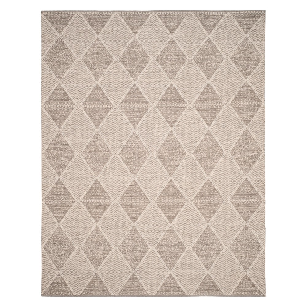 Geometric Woven Area Rug Gray