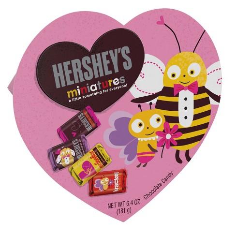 Hershey's Miniatures Valentine's Day Chocolate Heart Box - 6.4oz - image 1 of 3