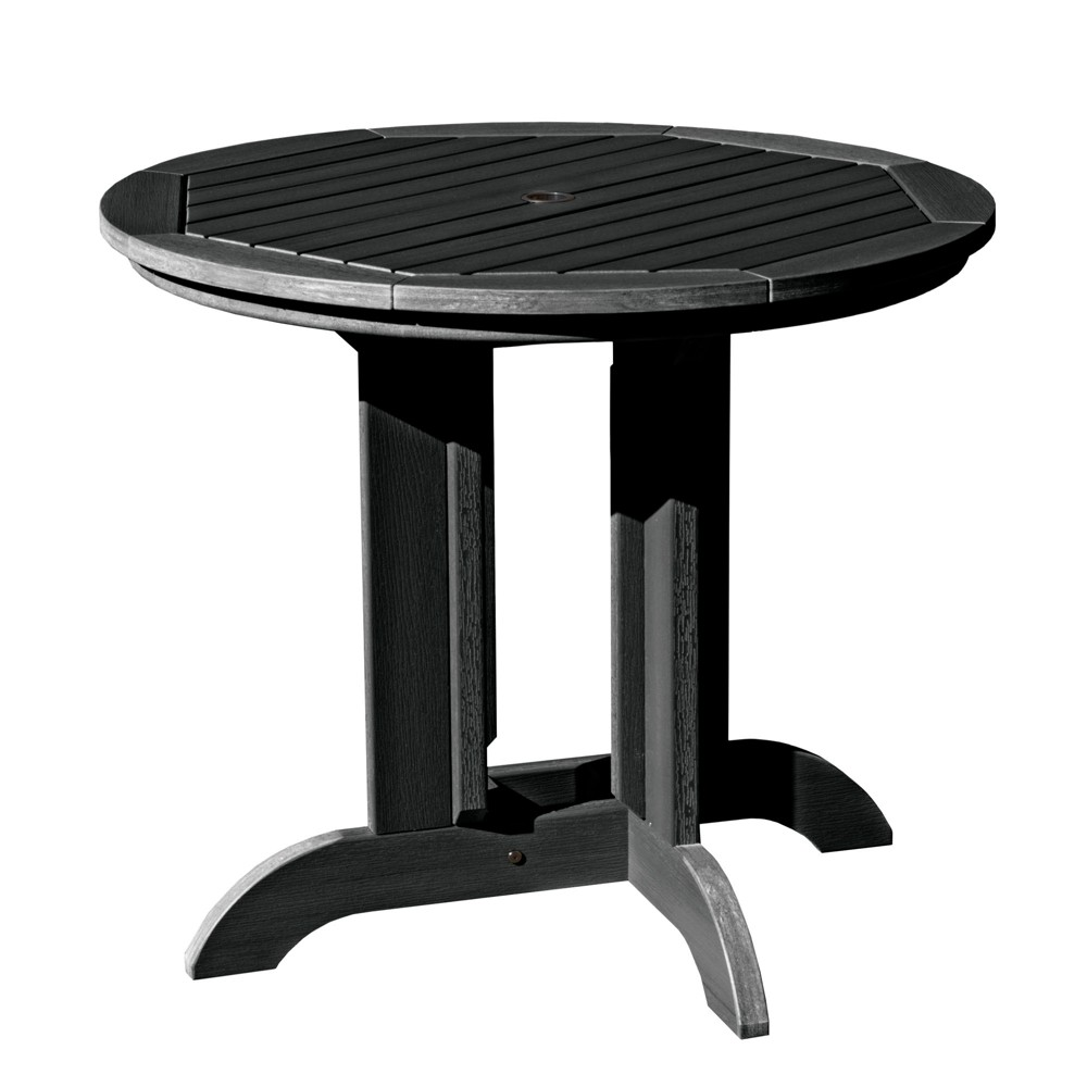 """Image of """"36"""""""" Round Patio Dining Table Black - highwood"""""""