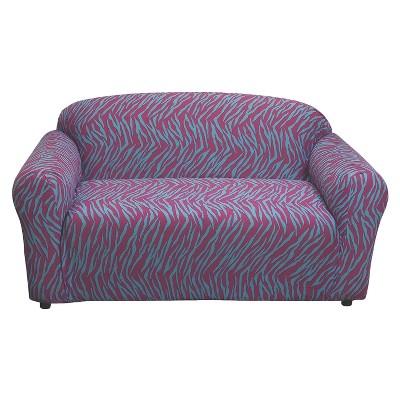 Zebra Print Jersey Stretch Loveseat Slipcover - Madison Industries
