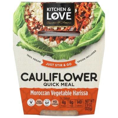 Cucina & Amore Gluten Free and Free Vegan Cauliflower Moroccan Vegetable Harissa Quick Meal -7.9oz