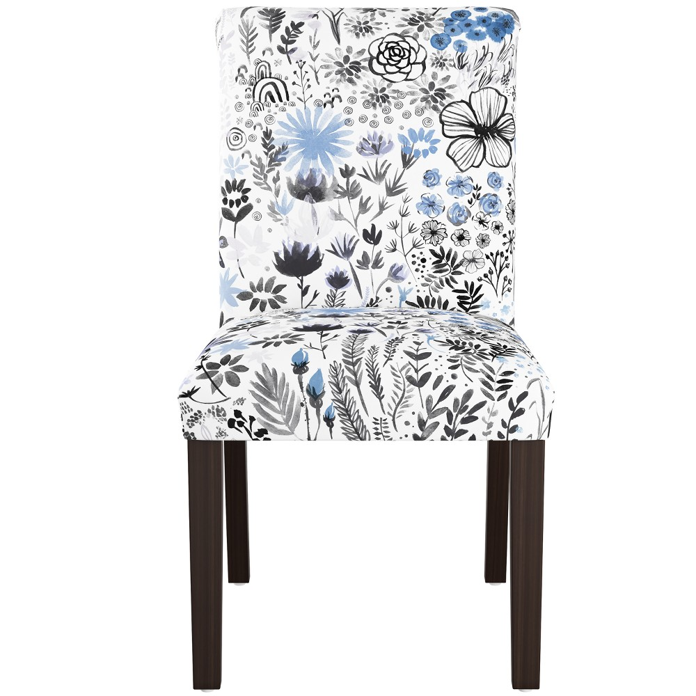 Dining Chair Winter Botanical Blue - Skyline Furniture