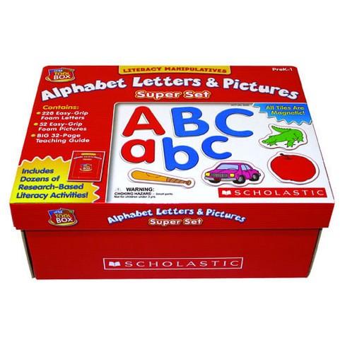 Scholastic Alphabet Letters & Pictures Super Set - image 1 of 1