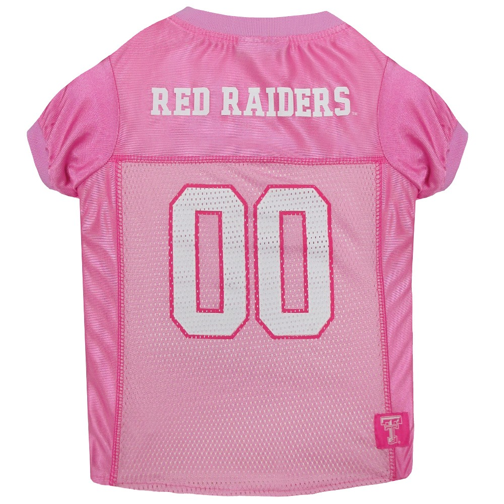 Pets First Texas Tech Red Raiders Pink Jersey - S, Multicolored