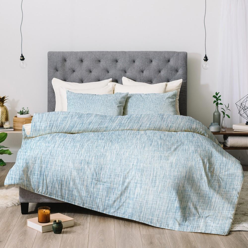 Image of Blue Holli Zollinger Acid Wash Comforter Set (King) - Deny Designs