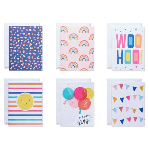 50ct Blank Carlton Cards with Envelopes Rainbow - image 1 of 4