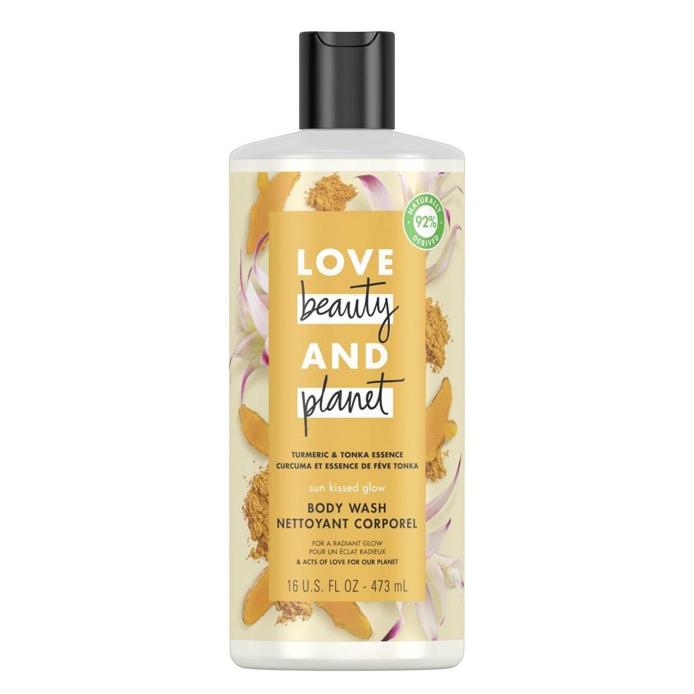Image of Love Beauty & Planet Turmeric & Tonka Essence Sun-Kissed Glow Body Wash Soap - 16 fl oz