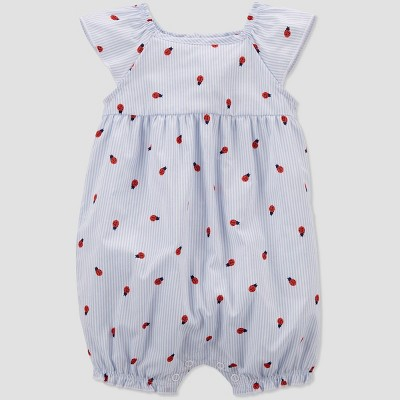 Baby Girls' Ladybug Romper - Just One You® made by carter's Light Blue 3M