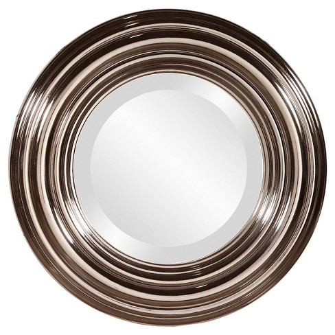 Round Val Decorative Wall Mirror Silver - Howard Elliott - image 1 of 2