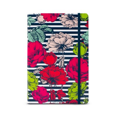 Dabney Lee Journal (240 pages, lined)- Flowers and Stripes