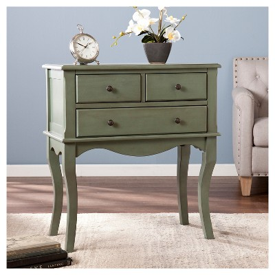 Carbone 3 Drawer Console Table   Green   Aiden Lane : Target