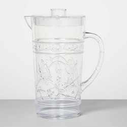 24oz Plastic Floral Embossed Beverage Pitcher - Opalhouse™