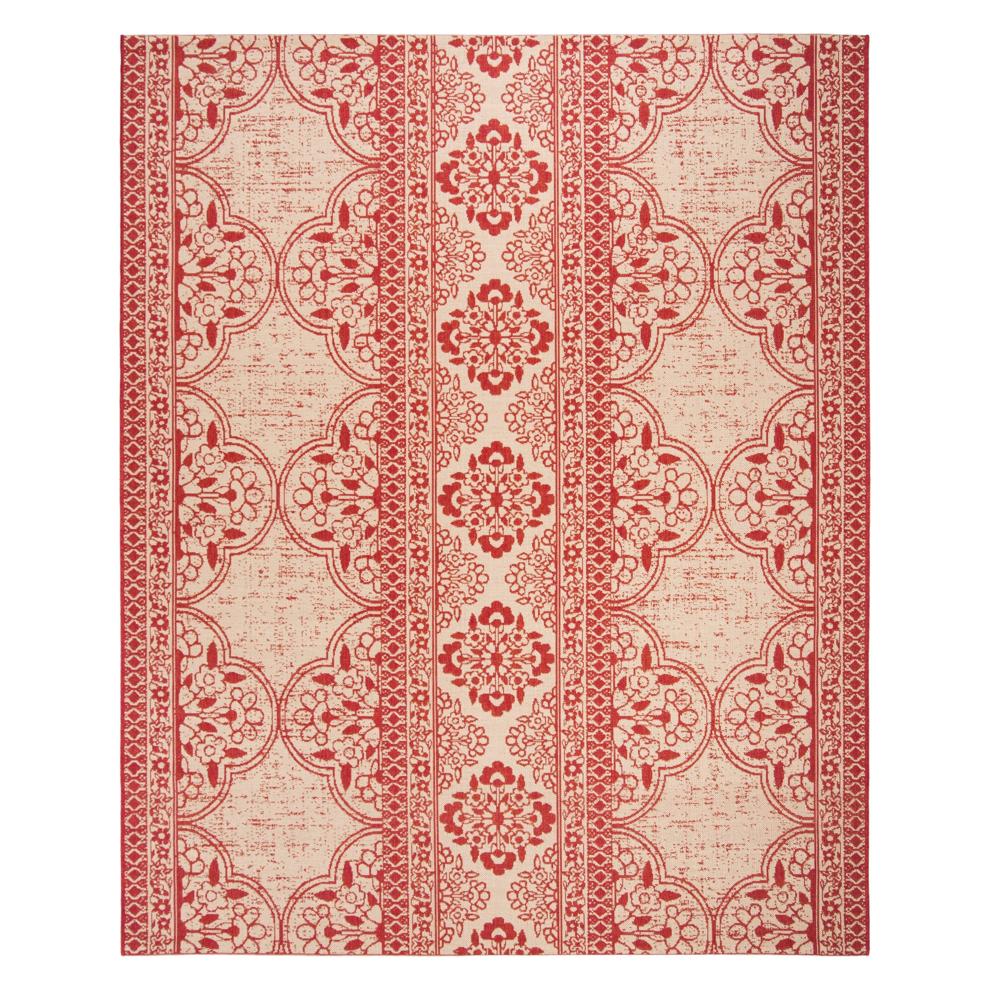 8'X10' Medallion Loomed Area Rug Red/Cream (Red/Ivory) - Safavieh