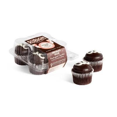 Rubicon Bakery Frozen Chocolate Cream Cupcakes - 10oz/4ct