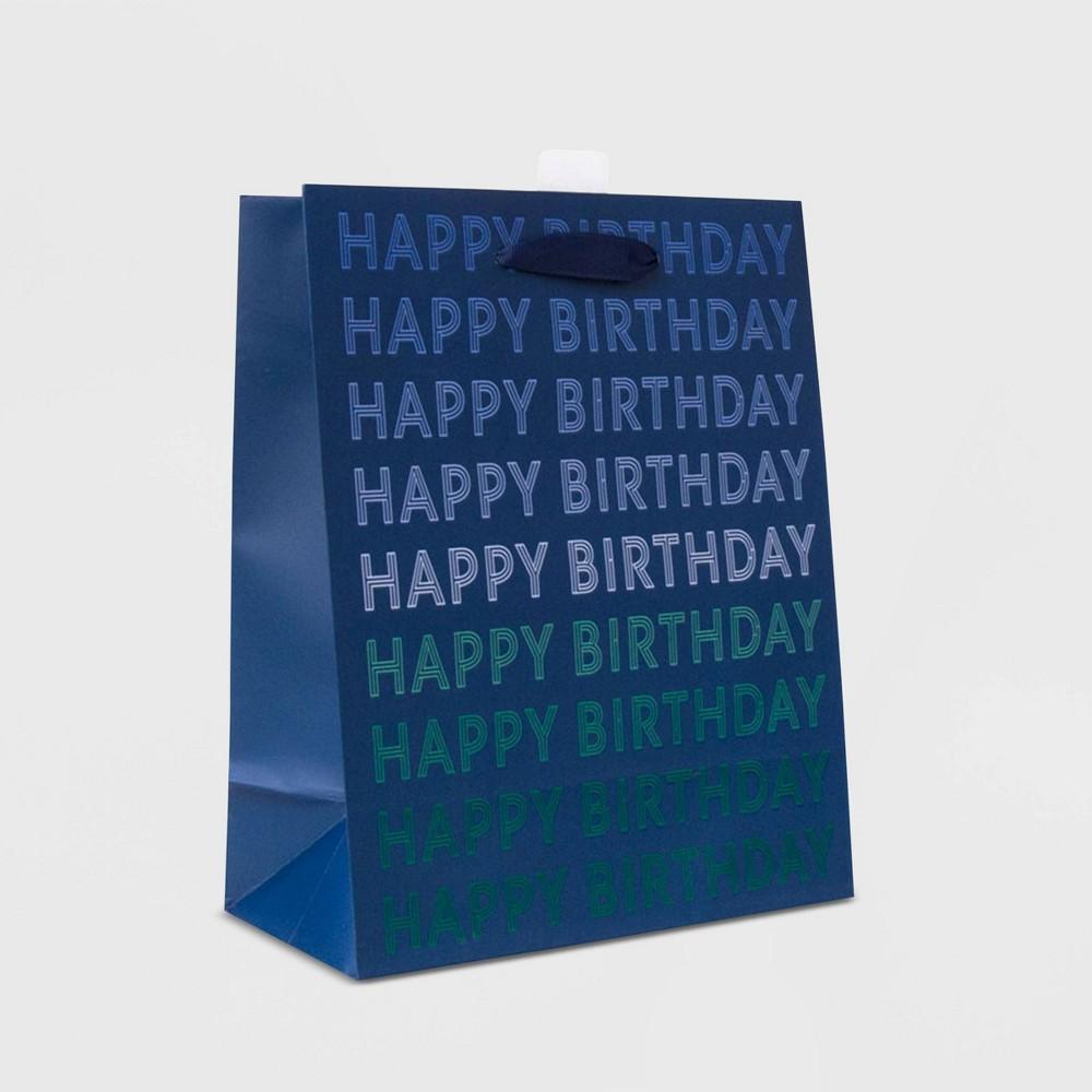 Small 34 Happy Birthday 34 Bag Navy Spritz 8482