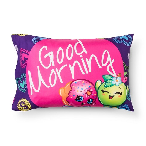 Good Morning Pillowcase (Standard) Pink & Purple - Shopkins® - image 1 of 2