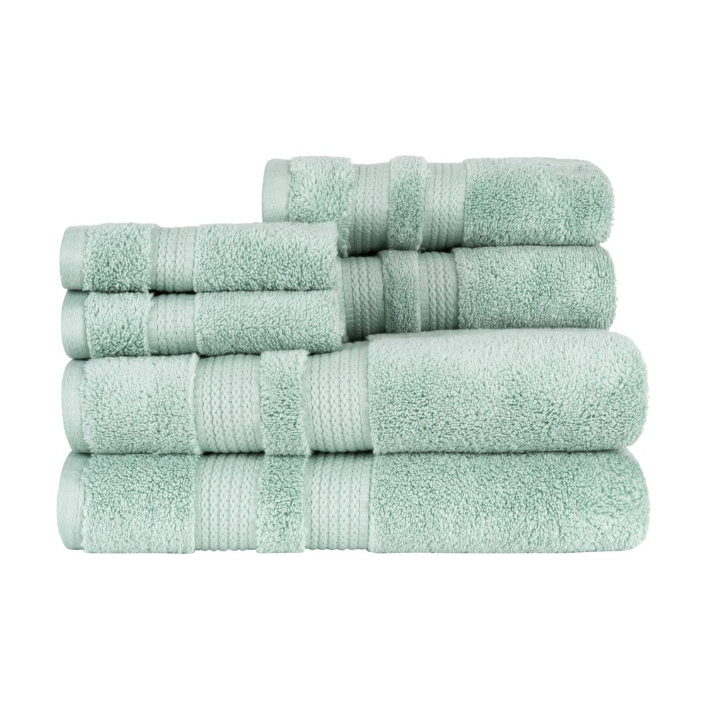 6pc Bel Aire Towel Set Turquoise Caro Home