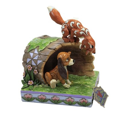 "Jim Shore 5.75"" Unlikely Friends Fox And Hound On Log  -  Decorative Figurines"
