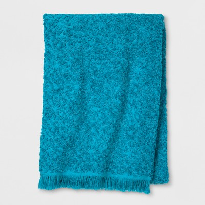 Soft Jacquard Accent Bath Towel Turquoise - Opalhouse™