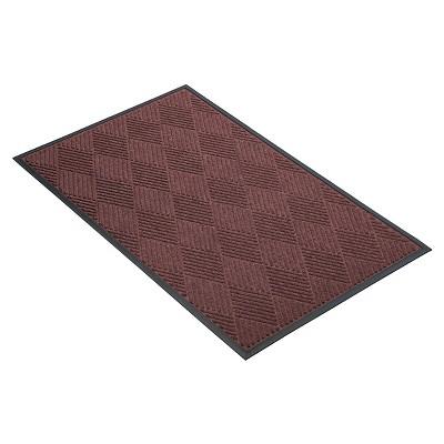 Burgundy Solid Doormat - (2'X3') - HomeTrax