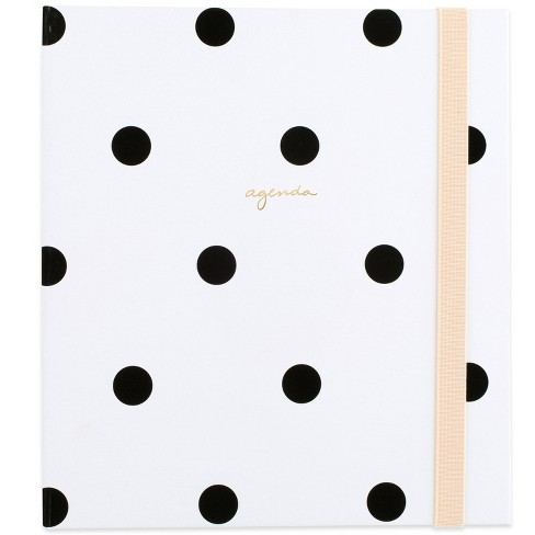 """2021 Planner 6.875"""" x 8.75"""" Concealed Wire HC White with Black Dot - Sugar Paper™ - image 1 of 4"""