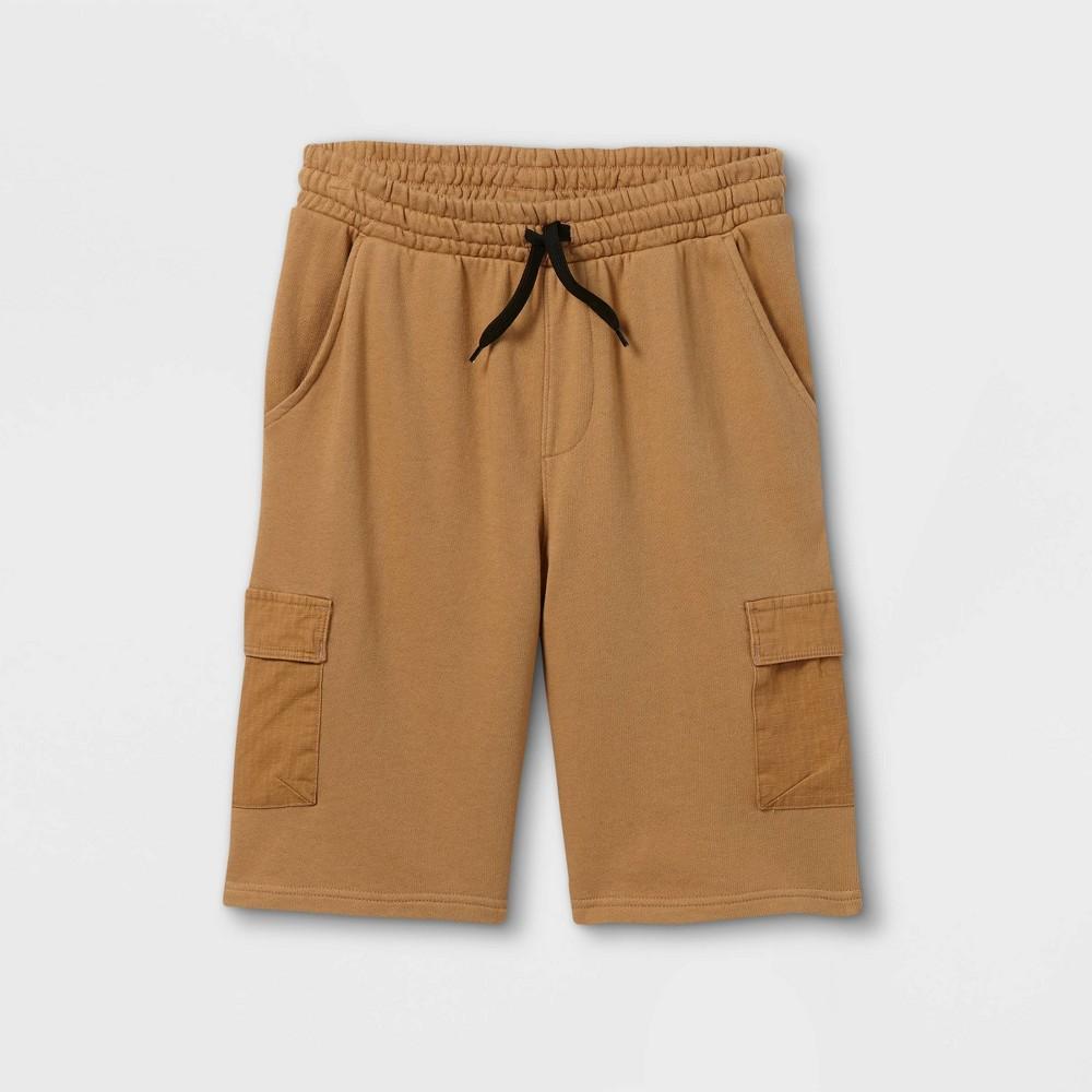 Boys 39 Cargo Shorts Art Class 8482 Khaki L Husky