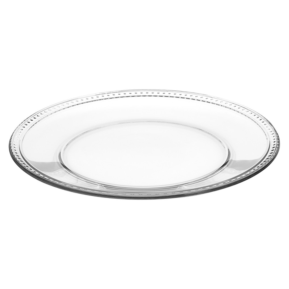 Anchor Hocking Isabella Glass Platter (13), Clear Elegant and simple, this Isabella Glass Platter from Anchor Hocking is all your guests will be talking about! Apart from making mealtimes a chic affair, this gorgeous piece will lend a modern touch to your tablescape. This delightfully stylish plate is made of glass and is built to last. Featuring a delicate dotted pattern, its lovely design is just perfect for any home! Color: Clear.