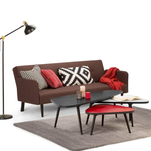 Aubrey 3pc Nesting Coffee Table Set Midnight Black Red White Simpli Home Target