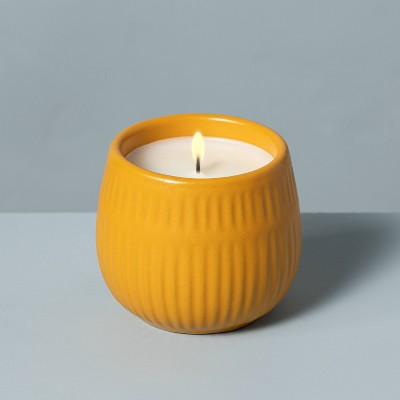 4.2oz Golden Hour Textured Ceramic Seasonal Candle - Hearth & Hand™ with Magnolia