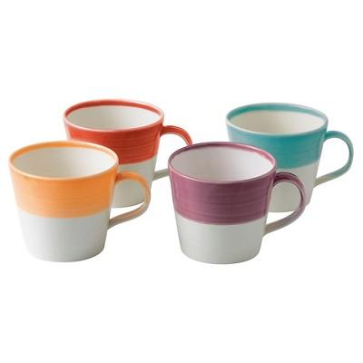 Royal Doulton 1815 Bright Colors Mugs, Set of 4