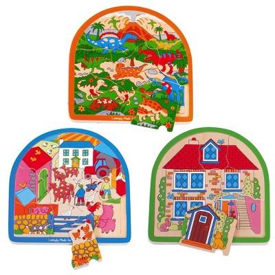 Bigjigs Toys Arched Layered Puzzle Set - Set of 3