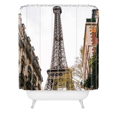 Bethany Young Photography The Eiffel Tower Shower Curtain Brown - Deny Designs