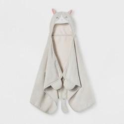 Cat Hooded Bath Towel Silver - Pillowfort™