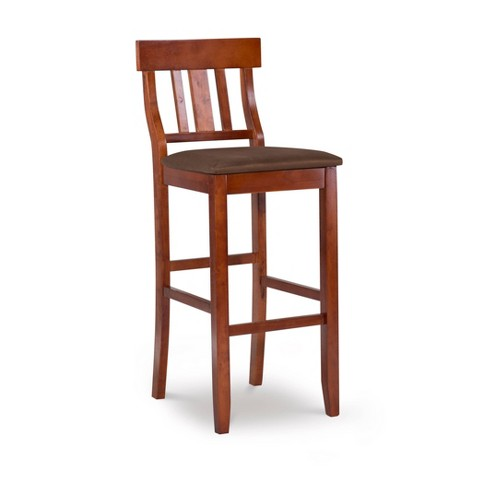 "Torino Contemporary 29"" Barstool Hardwood/Dark Cherry - Linon - image 1 of 4"