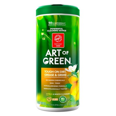 Art of Green Wipes Citrus and White Flowers - 35ct