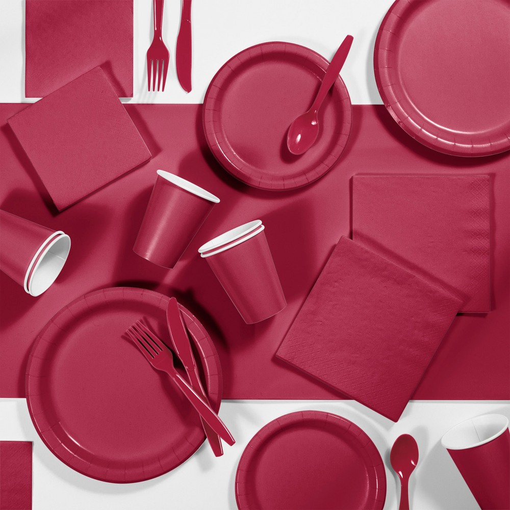 245pk Party Supplies Kit Burgundy Red Discounts
