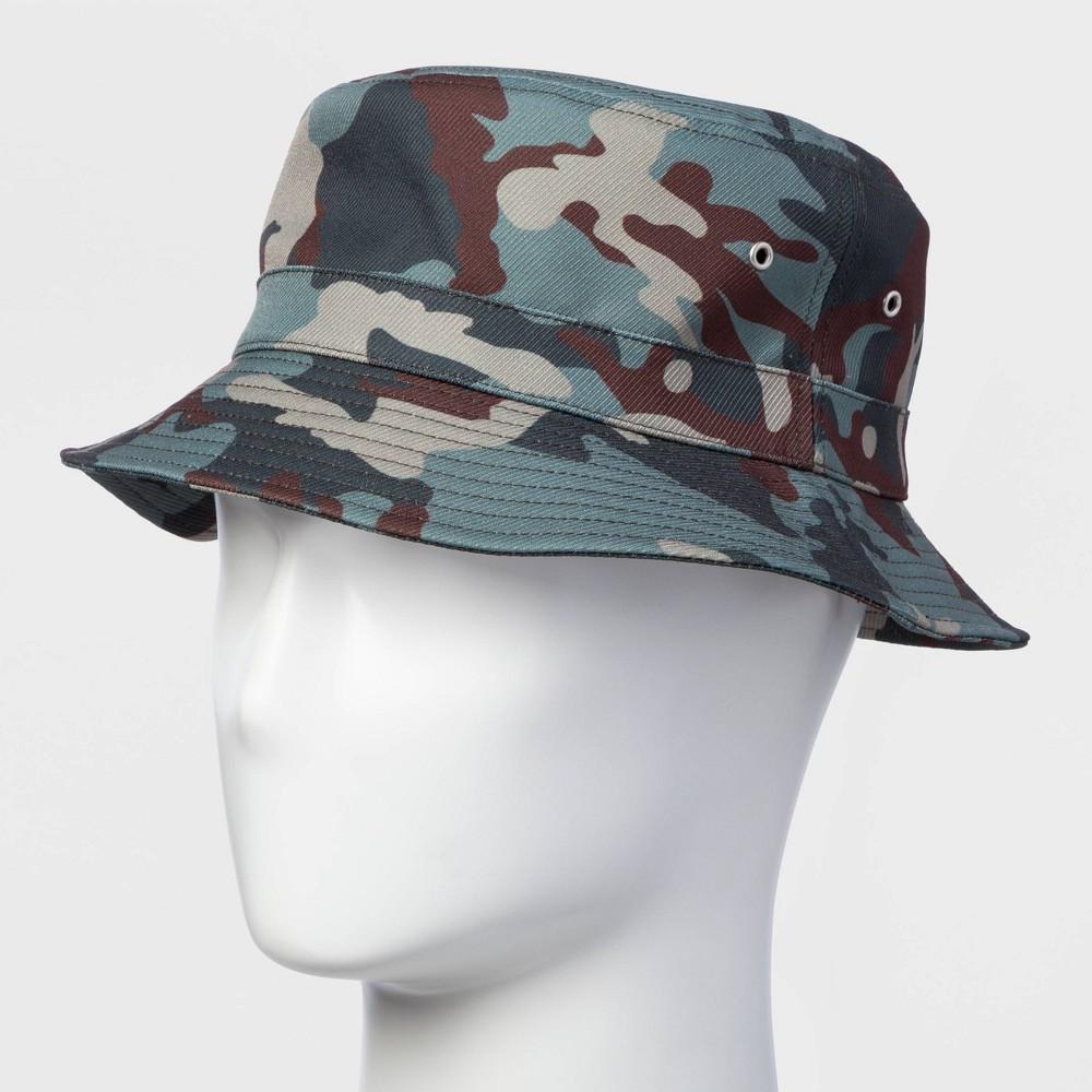 Men's Camo Print Bucket Hat - Original Use Green L/XL