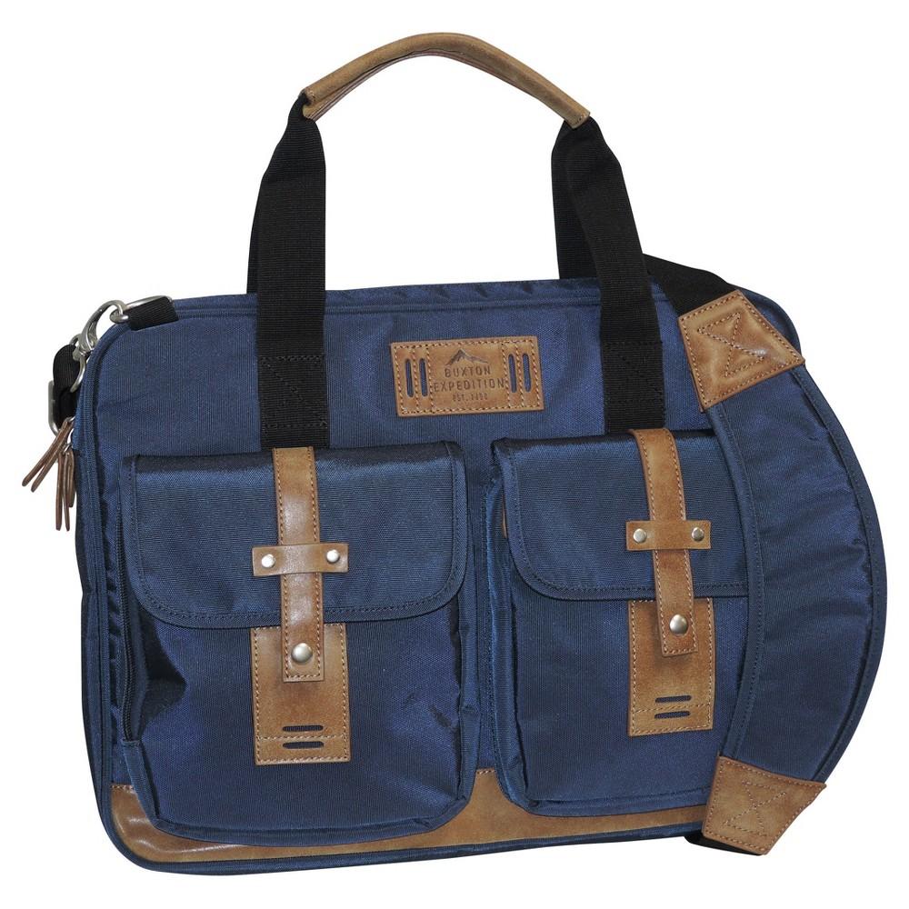 Buxton Men's Expedition II Messenger Bag - Navy (Blue)
