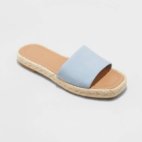 Women's Maren Square Toe Espadrille Slide Sandals - Universal Thread™ - image 1 of 4