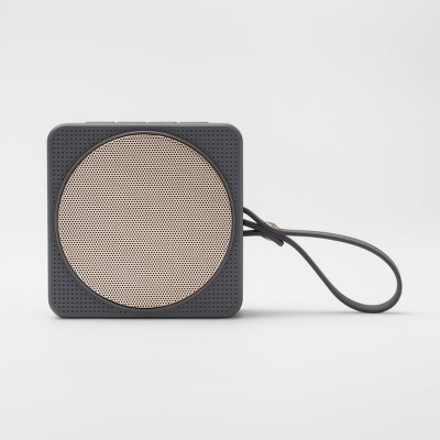 heyday™ Small Portable Bluetooth Speaker with Loop - Gray/Gold