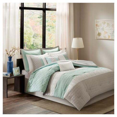 Aqua Hayden Comforter Set Queen 8pc Target