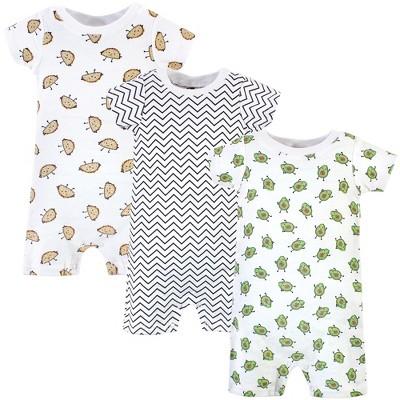 Hudson Baby Infant Boy Cotton Rompers 3pk, Aliviado