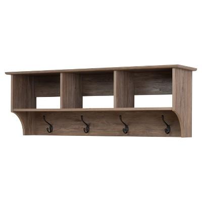 Douglas 48  Hanging Entryway Shelf - Drifted Gray - Prepac