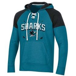 NHL San Jose Sharks Men's Hat Trick Laced Hoodie
